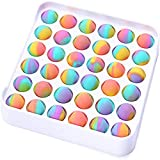 Fidget Toys Cheap, Mesh and Marble Fidget Toy, Push Pop Bubble Fidget Sensory Toy, Tangle Snake Infinity Cube Wacky Track Fidget Toy for Adults Kids (Colorful-Square)