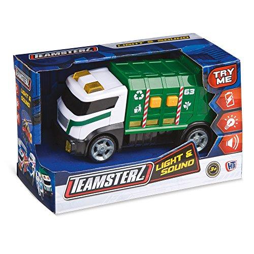 Grandi Giochi- Camion Spazzatura con Luci e Suoni, Multicolore, GG00978