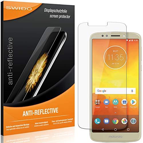 SWIDO Schutzfolie für Motorola Moto E5 [2 Stück] Anti-Reflex MATT Entspiegelnd, Hoher Festigkeitgrad, Schutz vor Kratzer/Folie, Bildschirmschutz, Bildschirmschutzfolie, Panzerglas-Folie