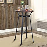 """MAISON ARTS 41"""" Bar Height Bar Table Round Pub Table Bar Height Counter Table Tall Breakfast Kitchen Table High Coffee Cocktail Table for Dining Patio Outdoors, 1 Table, Rustic Brown"""