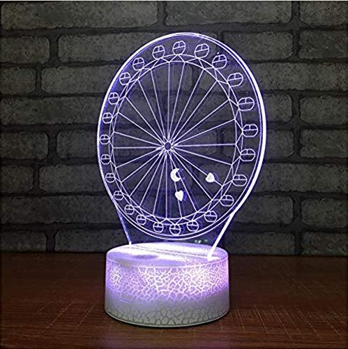 LED 3D verlichting nachtkastje A vervanging LED USB kinderlamp