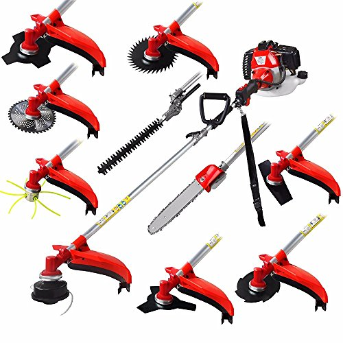 CHIKURA Multi 52CC 2-Strokes 10 in 1 Brush Cutter Grass Trimmer Lawn Mower Pruner Tool
