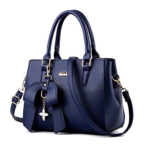 YUXIAOYU Damen-Handtasche Der Neue PU-Leder-Elegante Beiläufige Art Und Weise Crossbody-Tasche Verstellbare Schultertasche Geeignet Für Gelegenheitsarbeit Kauf Party,Dark Blue
