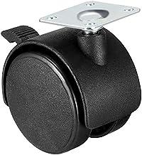 4 x 5,1 cm (2 inch) nylon zwenkwielen, 360 graden draaibaar, bovenplaat, montageplaat met rem.