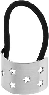Perfeclan ヘアバンド ヘアゴム ヘアスタイリング 女性 女の子 角型スター アクセサリー 全2色 - 銀