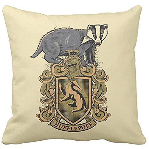 Ducan Lincoln Pillow Case Bling Bling Harry Potter | Stemma di Tassorosso con Divano Federa da Tiro in Tasso E Fodera per Cuscino per Auto