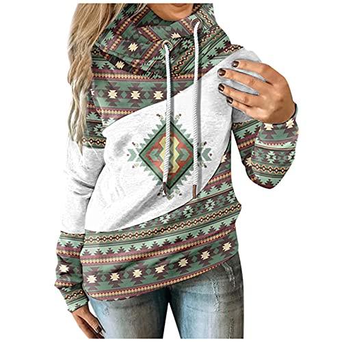 Luckycat Jersey de Navidad Para Mujer Sudaderas Mujer con Capucha Otoño Invierno Casual Sudadera con Estampado Bonito de Talla Grande Bolsillos Largos con Capucha Jersey de Oreja de Gato Top