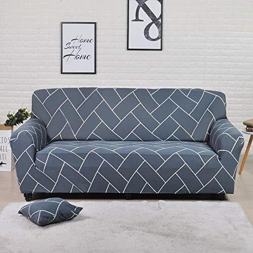 ASCV Funda de sofá con Estampado geométrico Colorido Fundas elásticas Fundas de sofá antisuciedad Funda de sofá Funiture Toalla All Wrap A7 2 plazas