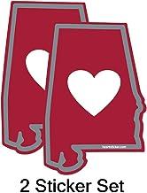 Auburn War Eagles Gulf Shore 205 Football Heart of Dixie Bama 2- Pack Auburn Univerisity Sticker Blue /& Orange Alabama Sticker Apply to Mug Phone Laptop Water Bottle Decal Cooler Bumper