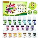 Seifenfarbe Set 20er x 6ml - Lebensmittelqualität Seifenfarben Färbende Hautverträgliche Farbe...