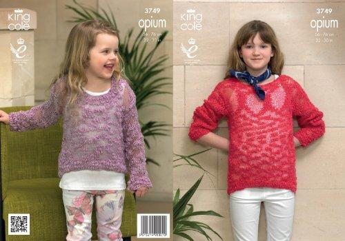 Koning Cole Meisjes Breien Patroon Kinderen Opium Gemakkelijk Gebreide Lange Mouwen Trui/Jumper 3749