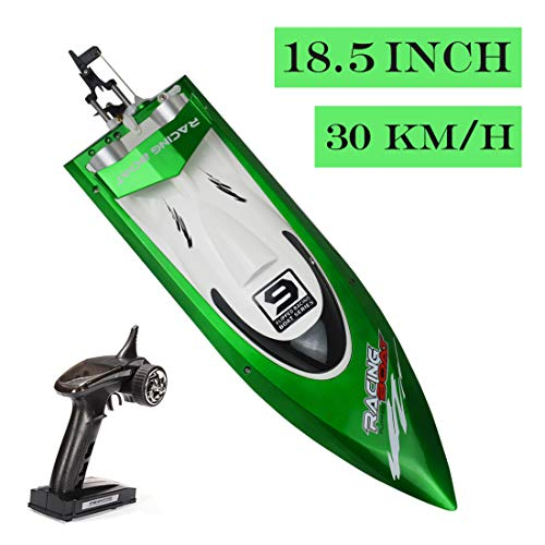SOWOFA 18.5 inches Ft009 Remote Control Boat Fast High Speed 30-35km/h for Big Boys Adults Hobbies w/1500mAh Battery
