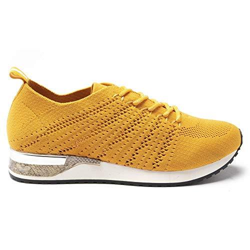 JANE KLAIN 36752 Damen Sneaker Gelb 36 EU