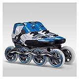 Yyoutop Skateboard Original Inline Skates Speed Fibre de Verre Enfants Adulte Enfants Skates Roller 90 / 100mm Skates de Course (Color : Blue, Shoe Size : 40)