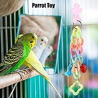 鳥のおもちゃ、カラフルなオウムの咀嚼おもちゃ、ペットの鳥の家のための軽量