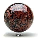 Astro Gallery Of Gems Esfera de caoba obsidiana (4' de diámetro, 5...