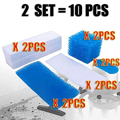CAIM Accessoires pour Aspirateur 10pcs / 2set for Thomas Double Genius Kit Hepa Filtre for Thomas 787203 Aspirateur Pièces Aquafilter Genius Filtres Aquafilter Remplacement