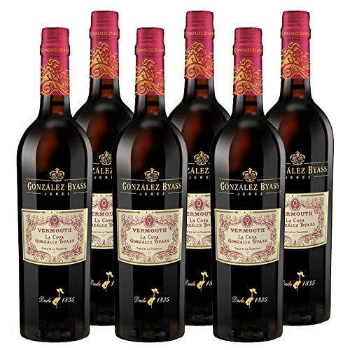 Vermut rojo La Copa de 75 cl - D.O. Jerez de la Frontera - Bodegas Gonzalez Byass (Pack de 6 botellas)