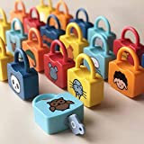 Assletes Learning Lock Educational Letter Combinationwith 26 Locks, Lock and Key Pairing Alphanumeric Alphabet Learning Toy for Kids Early Educational Toy Set&Parent-Child Interaction
