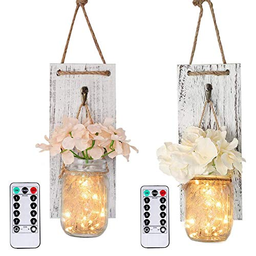 2 stuks wandlamp houten plank muur kandelaar upgraden afstandsbediening functie waterproof DIY home wanddecoratie,1