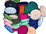 Set of 3 hand crochet SOFT dish scrubbers approx 3'...