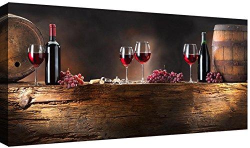 Canvashop Quadri Moderni Vino cm 120x60 Stampa su Tela Canvas Quadro Ristorante Bar Cucina Cantina
