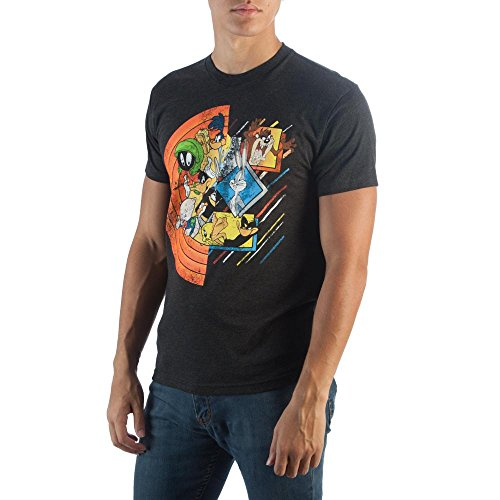 Bioworld Looney Toons Looney Circle Group T-Shirt-XL Black