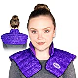 MyCare Heating Pad Neck and Shoulder for Instant Pain Relief - Weighted and Deep Moist Heat Pack for Stiffness, Arthritis, Bursitis, Tendinitis and Relaxation - Safe Natural Home Remedy (Purple)