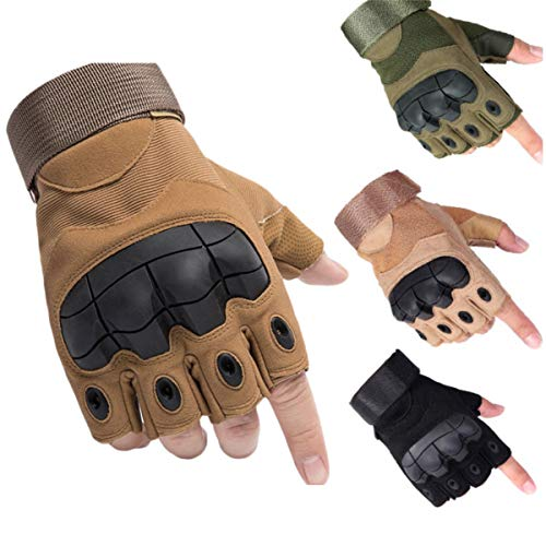 Guanti Guanti Da Donna Guanti Palestra Full Finger Tactical Army Gloves Military Paintball Shooting Airsoft Bicycle Combat Pu Leather Touch Screen Rubber Hard Knuckle