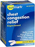 Sunmark Chest Congestion Relief Caplets - 50 ct, Pack of 2