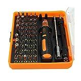 Pinzas de destornillador de precisión de herramienta de bits múltiples Kit 53 en 1 para reparación de bricolaje por teléfono, 53 piezas/juego