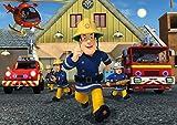 Feuerwehrmann Sam Tortenaufleger, Rechteckig A4 - Geburtstag Tortenbild Zuckerbild Tortenplatte Oblate Kuchenzuckerplatte