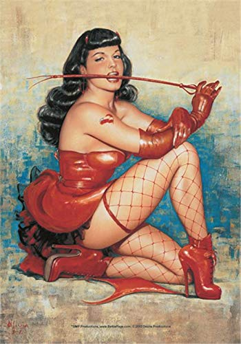 Bettie Page- Don't Tred Me Textile Poster