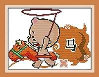 LovetheFamily 干支(馬) 37×27cm DIY十字刺繍 手作り刺繍キット 正確な図柄印刷クロスステッチ 家庭刺繍装飾品 11CT 3ストランド(インチ当たり11個の小さな格子 3株ライン) 刺しゅうキット ホーム オフィス装飾 手芸 手工芸 キット 芸術 工芸 DIY 手作り 装飾品(フレームレス)