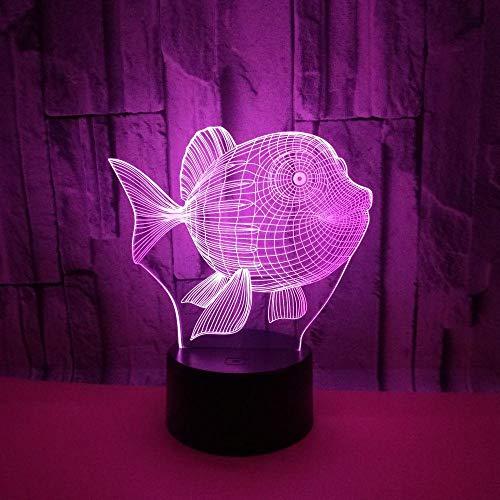 Poisson d'or mignon 3D LED USB Décoratif enfants chambre Night Light Friends cadeaux lampe multicolore éclairage câble Kid s jouet@Only Touch Switch