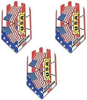 Pentathlon 3 Pack American Flag Stars & Stripes America 100 Micron Extra Strong Standard Dart Flights