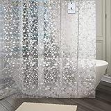 Kuber Industries PVC Shower Curtain - 9ft, Transparent