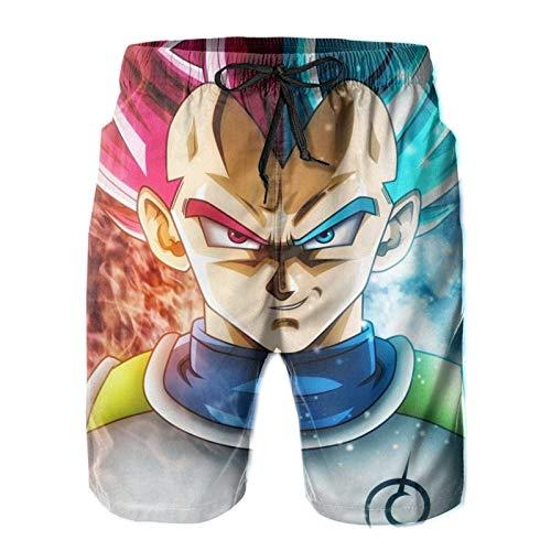 Zbcoopl Goku Dra-gon Ball Super Swim Trunks, pantalones cortos de playa para hombre y niños, pantalones deportivos de verano