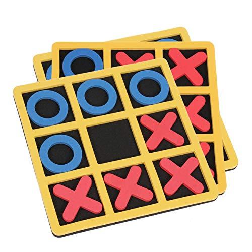 TOYANDONA 3 Stück Tic Tac Toe Brettspiele tragbare Puzzle Board kognitive Lernspielzeug Schach Lernspielzeug für Kinder