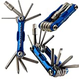 VeloChampion Premium Quality MLT10 Bike Multi Tool - 10-in-1 Multi-Function Cycling Maintenance Tool