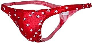 Men's Hot Thong Underwear, Men's Thong G-String Undie,Flashing Stars Design,MmNote