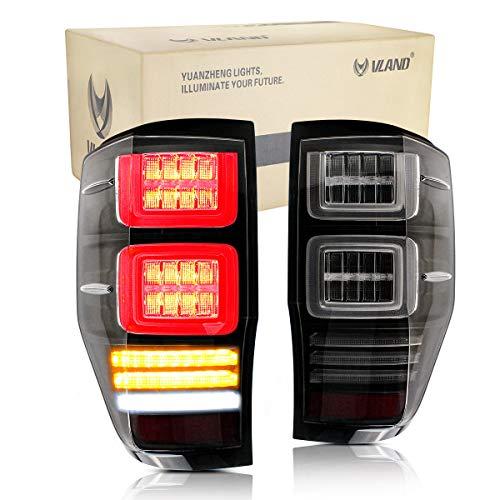 VLAND LED Bar Rückleuchten Set für Ranger T6 XLT PX XLS LX 2012-2018 Rücklicht sequentieller Blinker