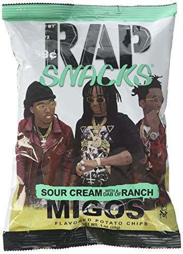Rap Snacks Migos Sour Cream w Dab of Ranch Potato Chips 1 oz bag