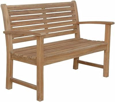 """Anderson Teak Victoria 2-Seater Bench, 48"""", Maxim Heather Beige"""