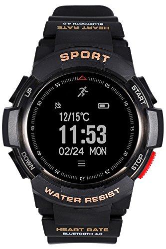 fitness tracker Da uomo, frequenza cardiaca, Bluetooth, Smart Watch, impermeabile, stile militare, cronometro, sportivo, digitale