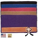 Tahoe Tack Pony New Zealand Wool Saddle Blankets Wear Leathers USA Leather - Size 24' X 24', Purple
