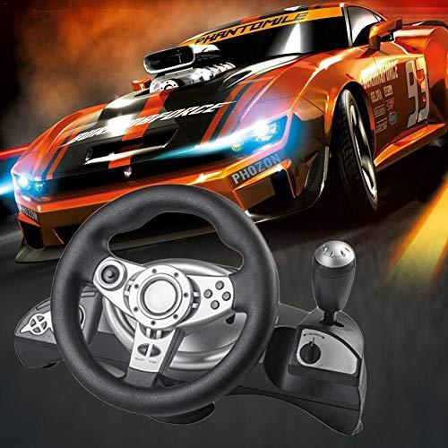 WUYANSE Consola de Juegos Volante Volante de Carreras con vibración para PC...