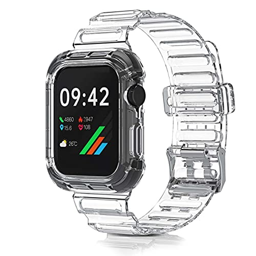 Correa Compatible con Apple Watch,Compatible con iWatch Series 6 5 4 3 2 1 Correa de Repuesto,Creativa,Transparente - 42mm/44mm