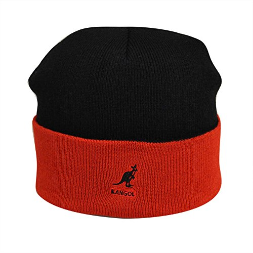 Kangol - Cuff Pull-on - Noir - Black (Black/Red) - Taille Unique