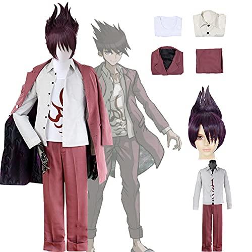 QDX Danganronpa 3 Momota Kaito Cosplay Kostüm Danganronpa v3 Rollenspielanzug Halloween Schuluniform Outfit für Männer XXL